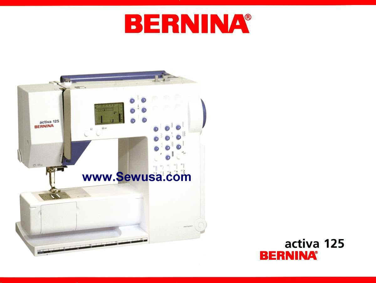 Bernina 125 Activa Instruction Manual