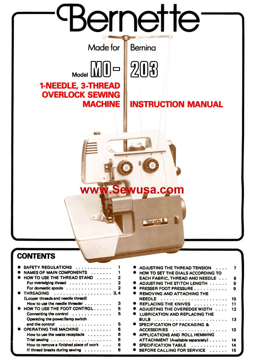 Bernina Instruction Manuals