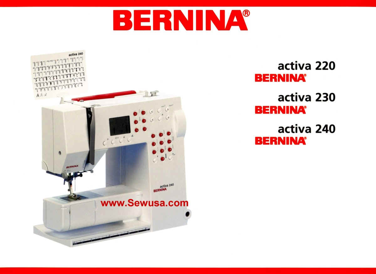 Bernina 220 230 240 Activa Instruction Manual