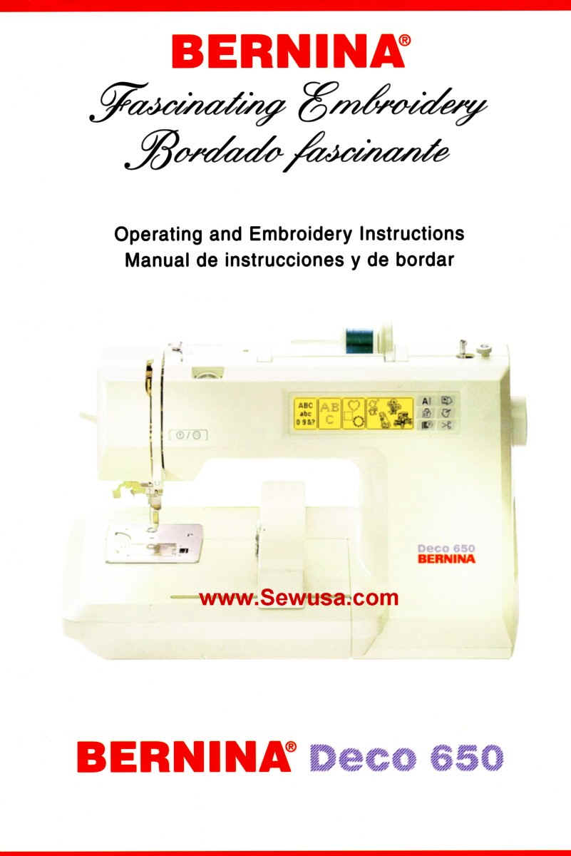 Bernina instruction manuals bernina 650 deco operate embroidery manual wpe51g 65546 bytes fandeluxe Gallery